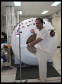 Digital photo titled philip-entering-hyperbaric-chamber