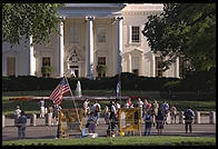 The White House. Washington, D.C. This photo was made shortly after Bill Clinton closed Pennsylvania Avenue to traffic by commoners