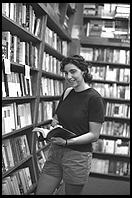 Rhya Fisher at Harvard Bookstore. Cambridge, MA 1998.
