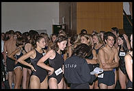 Waiting for the swimsuit show.  IMTA Show 1995 Manhattan