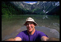 Self-portrait, Avalanche Lake, Glacier National Park.