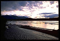 11 pm on the banks of the Donjek River, Yukon Territory, July 3, 1993.  Plenty of light to pitch a tent, which is just what I did.
