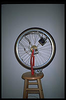 An updated version of Duchamp's famous bicycle wheel, at the Walker Art Center (Minneapolis)