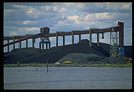 A $200 million German-built conveyor system for loading coal onto boats in Duluth (Minnesota) harbor