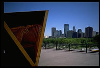 A view of downtown Minneapolis from the Walker Art Center, perhaps the US's most modern modern art museum