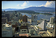 Vancouver, British Columbia, from the top of the tourist tower that every Canadian city seems to have.