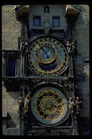 Prague's signature tourist clock, in the Old Town Square