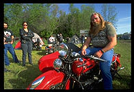 Motorcycle convention in North Dakota