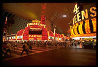 Downtown Las Vegas (Fremont Street) by night.