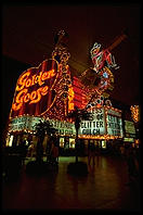 Golden Goose. Downtown Las Vegas (Fremont Street) by night.