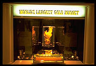 World's largest gold nugget at the casino of the same name in downtown Las Vegas (Fremont Street).