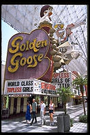 Golden Goose. Downtown Las Vegas (Fremont Street) by day.