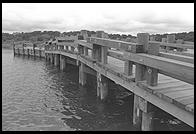 The Dike Bridge, Chappaquiddick, Martha's Vineyard, Massachusetts. Yes this is a rebuilt version of the bridge off which Ted Kennedy went in 1969