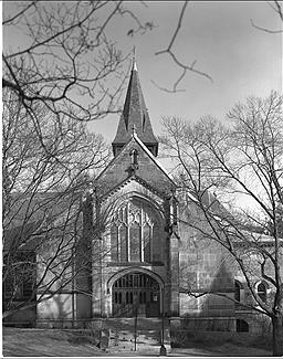 Chapel.  Wellesley College.  1981.  My first view camera photo.