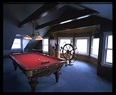 Third floor pool room, 470 Shore Road, Chatham